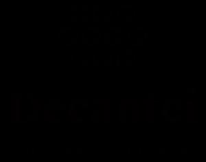 Das Logo des Wirtshauses Decantei mit transparentem Hintergrund