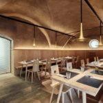 Ein Speisesaal im Wirtshaus Decantei in Brixen
